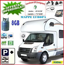 """NAVIGATORE 7"""" GPS PER CAMPER E CARAVAN 48 PAESI- CAMPEGGI ITALIA/EUROPA 06/18"""