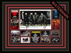 RAMMSTEIN TILL LINDEMANN LIMITED EDITION SIGNED FRAMED MEMORABILIA STADIUM TOUR