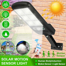 Solar LED Street Wall Light PIR Motion Sensor Remote Control Outdoor Garden Lamp