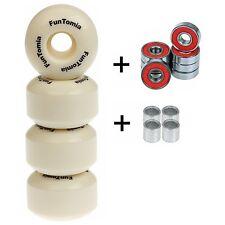 4X FunTomia® Ersatz Rollen 100A Skateboard Wheels inkl. ABEC-11 Kugellager 3005
