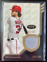 2018 Topps Tier One BRYCE HARPER Jersey Patch Relic Card SP /400 Nationals