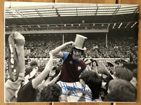 Trevor Brooking England & West Ham Signed 16x12 Photo. FA Cup Final 1975. PROOF