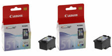 2x Genuine Original Canon CL511 Colour Ink Cartridges For PIXMA MP260 Printer