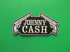 HEAVY METAL PUNK ROCK MUSIC FESTIVAL SEW ON / IRON ON PATCH:- JOHNNY CASH (-)