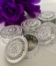 12-Wedding Favor Table Decorations Silver Trinket Box Recuerdos Primera Comunion