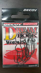 DECOY DREAM HOOK WORM 15 SIZE#(1/0,2/0,3/0,2,4) - Made in Japan