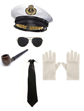 Deluxe Sailor Captain Officer Military Army Navy Fancy Dress Accessories 5PC Kit