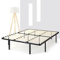 14 Inch Metal Platform Beds w/Wooden Slat Mattress Foundation