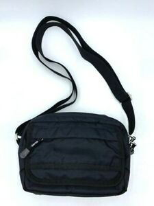 Derek Alexander Black Ripstop Organizer Crossbody Purse Shoulder Bag