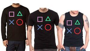 Playstation Controller Herren T-shirt, Playstation Langarm Shirt, Tank Top