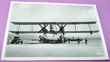 RARE CPA PHOTO AVIATION HYDRAVION ETANG DE BERRE GOLIATH SUR SON CHARIOT