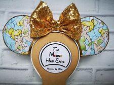 Custom Disney Mickey Mouse Ears - Tinkerbell Peter Pan Wendy Gold Fairy Dust