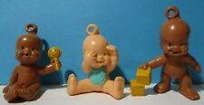 3 1980's Ljn Oodles Pvc Figures Head Loop Babies #s 48,18,34