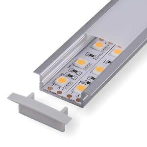 LED Profil 2m Alu DURA für LED Stripes Aluminium Schiene Aluprofil Leiste