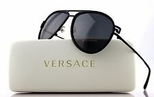NEW Authentic VERSACE Black Diamonte Crystal Aviator Sunglasses VE 2171B 1256 87