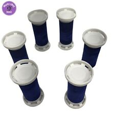 Conair Curlcare CHV20R Replacement Parts - 6 Small Blue Velvet Curlers