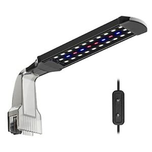 Aquarium Clip-on Light Fish Tank Light with White Blue and Red LEDs 2 Modes