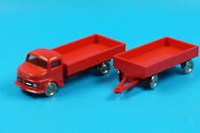 LEGO / 1:87 Mercedes LKW Rundhauber mit Anhänger rot - Vintage 60er Jahre (J510