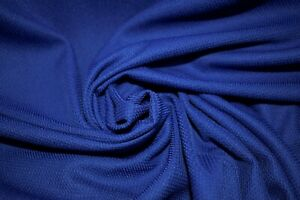"Sapphire Moisture Wicking Sport Wear Performance Knit Pique Stretch Fabric 61""W"