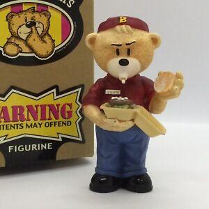 🍔 'BAD TASTE BEARS' COLLECTABLE BEAR FIGURINE 'RONALD' BOXED!