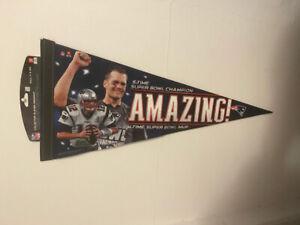 Tom Brady 5X Superbowl Champion MVP Pennant
