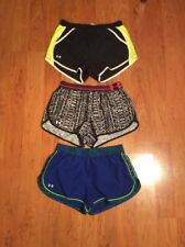 Under Armour Women's Headgear Running Tempo Shorts Lot Of Three Size S