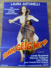 Kinoplakat KOMM GEIG MIT MIR Laura Antonelli Das nackte Cello Erotik