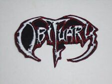 OBITUARY DEATH METAL IRON ON EMBROIDERED PATCH