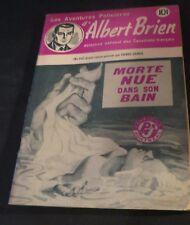 1940s ADVENTURES POLICIER ALBERT BRIEN DETECTIVE SEX MURDER FRENCH  PULP #542