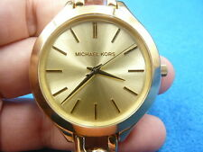 New Old Stock MICHAEL KORS Runway MK3222 Gold Plated Quartz Women Watch