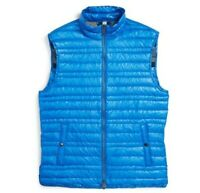 Burberry 147609 Men's Brit Trowby Packable Quilted Down Vest Azure Blue Sz M