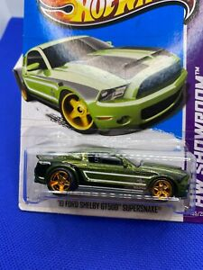Hot Wheels 2013 Super TH  2010 Ford Shelby GT500 Supersnake Green W/Real Riders