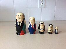 Vintage Yeltsin Gorbachav Russian Presidents Nesting Dolls Vintage--5 Dolls