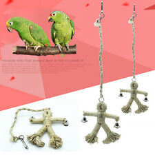 Pet Bird Parrot Cage Hanging Toys Large Rope Cave Ladder Bells Chew Toys