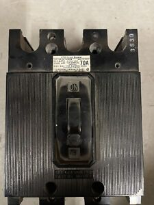 ITE Molded Case Circuit Breaker 70 AMPS 3 Poles Volts 240 AC catalog no EE3-B070