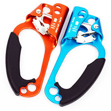 PAIR Left+Right Hand Ascender Rope Clamp for Rock Tree Climbing Caving Rescue