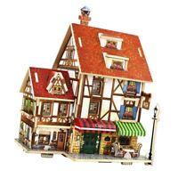 Maison de poupée miniature 1/24 bricolage avec ensemble de meubles