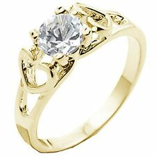 14K GOLD EP 1.44CT DIAMOND SIMULATED TWIN HEARTS RING SIZE 5 - 10 YOU CHOOSE
