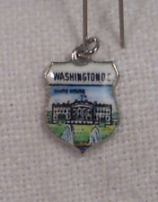 Vintage REU Sterling/Enamel The White House Charm New
