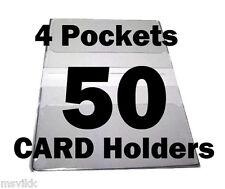 Debit Card Holders Clear Vinyl Cover 4 Pockets - Set of 50