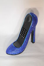 High Heel Shoe Telephone with Bling in Blue Unique & Fashionable Design 153