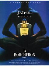 PUBLICITE ADVERTISING 2000    BOUCHERON  JAIPUR HOMME  boutique parfums