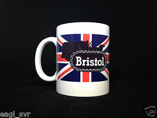 Bristol Crawler Tractor Gift Mug Emblem on Union Jack Flag