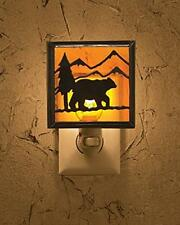 Night Light Bear Rustic Cabin Lodge Wildlife Decor Home Living Room Man Cave New