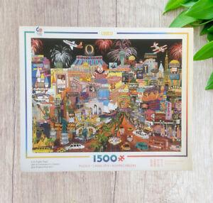 "1500 PC Caeco PUZZLE ""CITY LIGHTS VEGAS"" BY SHARIE HATCHETT BOLHLMAN  #A83"