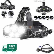Rechargeable Flashlight LED Headlamp Camping Hard Head Hat Light Waterproof