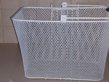 Bicycle Basket - Front Lift Out Basket - White Mesh With Mounting Bracket