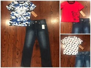 NWT$79 Boys  TRUE RELIGION TEE SHIRT & JEANS SET SIZE 4,5, & 6