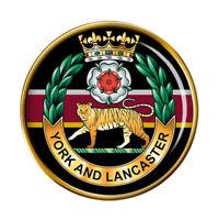 York et Lancaster Régiment, Armée Britannique Broche Badge