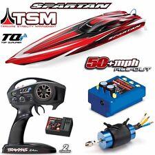 """Traxxas 57076-4 Spartan 36"""" Deep V Brushless Boat Red RTR w/ TSM / TQi Radio"""